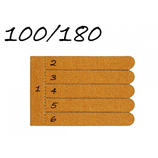 Törhető fa körömreszelő (100/180) (6db-os)